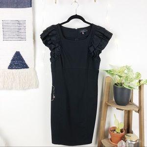 TED BAKER • Ruffles Sleeves Little Black Dress